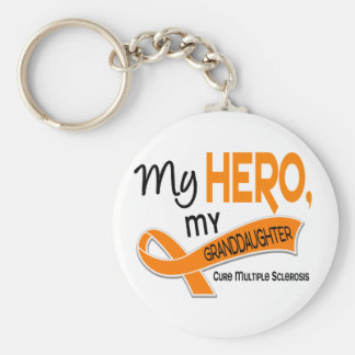 MS Multiple Sclerosis MY HERO MY GRANDDAUGHTER 42 Key Chains