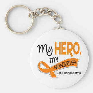MS Multiple Sclerosis MY HERO MY GRANDFATHER 42 Key Chain