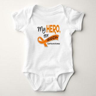 MS Multiple Sclerosis MY HERO MY GRANDPA 42 Baby Bodysuit