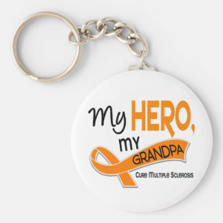 MS Multiple Sclerosis MY HERO MY GRANDPA 42 Keychains
