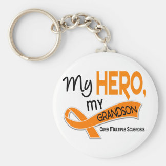 MS Multiple Sclerosis MY HERO MY GRANDSON 42 Key Chain