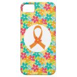 MS Multiple Sclerosis Orange Ribbon awareness iPhone 5 Case