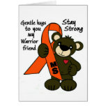 MS   ( Multiple Sclerosis ) teddy bear ribbon Greeting Card