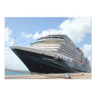 MS Nieuw Amsterdam Cruise Ship on Aruba 13 Cm X 18 Cm Invitation Card