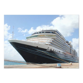 MS Nieuw Amsterdam Cruise Ship on Aruba Card