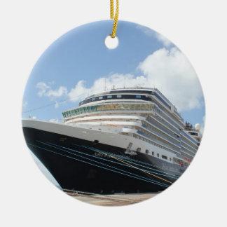 MS Nieuw Amsterdam Cruise Ship on Aruba Christmas Ornament