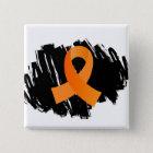 MS Orange Ribbon With Scribble 15 Cm Square Badge