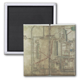 Ms R 171 f.285 Plan of Canterbury Cathedral and th Square Magnet