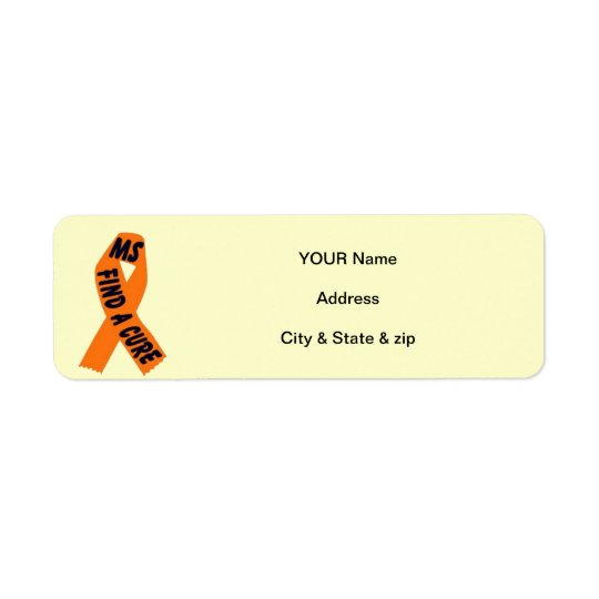MS Ribbon Return Address Labels