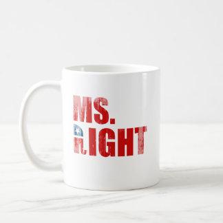 MS. RIGHT Faded.png Basic White Mug
