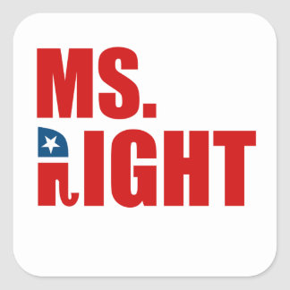 MS. RIGHT STICKERS