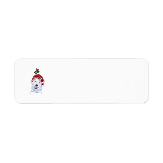 Ms. Santa Labradoodle Return Address Label