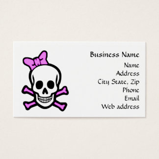 Ms Skull Business Card