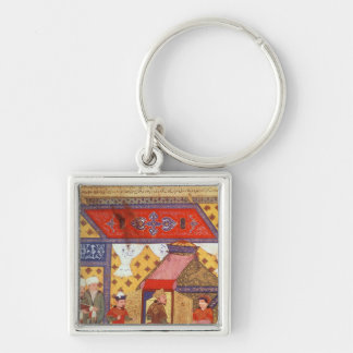 Ms. Supp. Pers.Pavilion tents erected by Ghazan Silver-Colored Square Key Ring