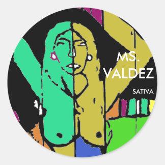 MS. VALDEZ ROUND STICKER