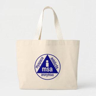 MSA:  MySpace Addicts Anonymous Tote Bag