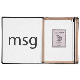 msg iPad folio case