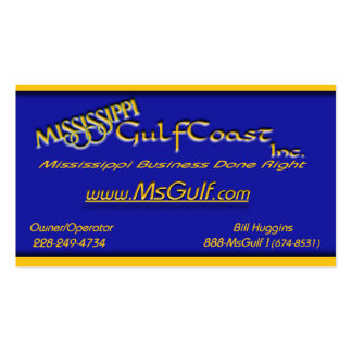 MSGULFbusinesscard Business Cards