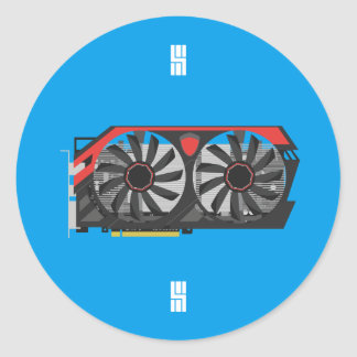 MSI Twin Frozr Graphics Card Design Round Sticker