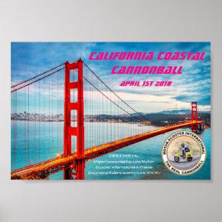 MSILSF California Coastal Cannonball Poster