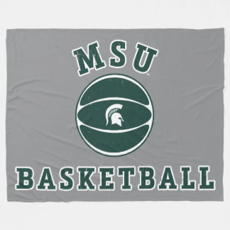 MSU Basketball | Michigan State University 4 Fleece Blanket
