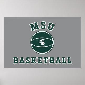 MSU Basketball | Michigan State University 4 Poster