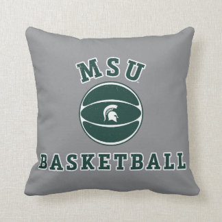 MSU Basketball | Michigan State University 4 Throw Pillow