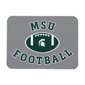 MSU Football | Michigan State University 4 Magnet