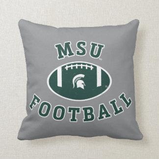 MSU Football | Michigan State University 4 Throw Pillow