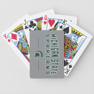 MSU Pennant | Michigan State University 4 Bicycle Playing Cards