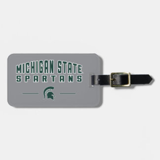 MSU Pennant | Michigan State University 4 Luggage Tag