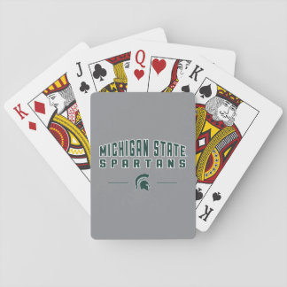 MSU Pennant | Michigan State University 4 Playing Cards