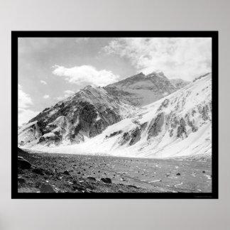 Mt. Aconcagua in Argentina 1902 Poster