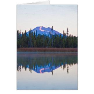 Mt Bachelor from Little Lava Lake, Oregon Card