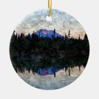 Mt Bachelor, Oregon, at Dawn Christmas Ornament