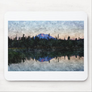 Mt Bachelor, Oregon, at Dawn Mouse Mat