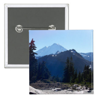 Mt. Baker from Artist Point. 15 Cm Square Badge