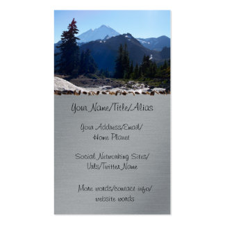 Mt. Baker from Artist Point. Pack Of Standard Business Cards