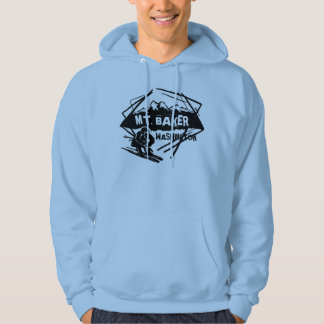 Mt. Baker Washington guys ski logo hoodie
