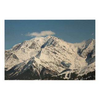 Mt. Blanc with clouds. Wood Wall Decor