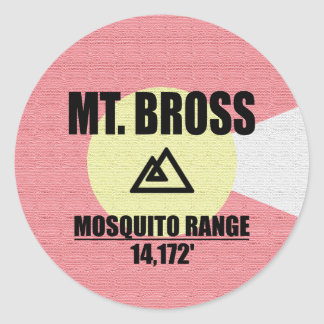 Mt. Bross Classic Round Sticker