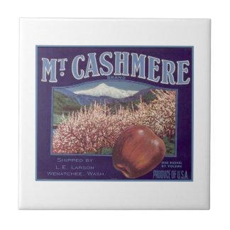 Mt. Cashmere Apples Small Square Tile