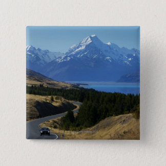 Mt. Cook, New Zealand 15 Cm Square Badge