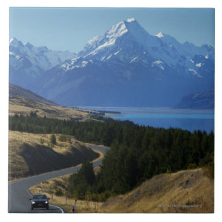 Mt. Cook, New Zealand Large Square Tile