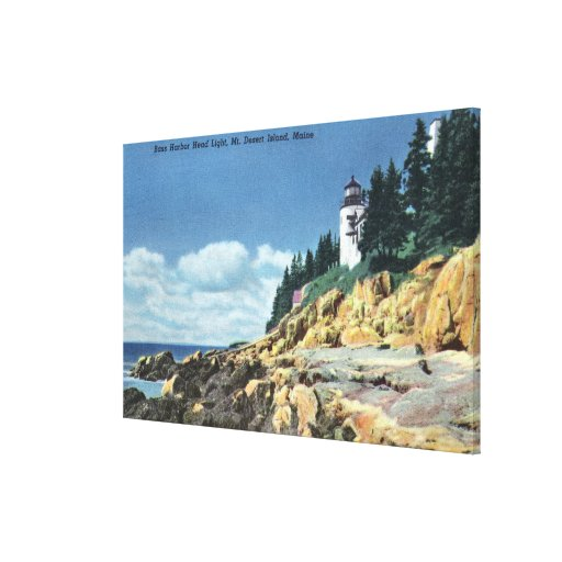 Mt. Desert Island, Bass Harbor Head Lighthouse Stretched Canvas Print