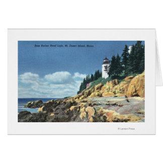 Mt. Desert Island, Bass Harbor Head Lighthouse Card
