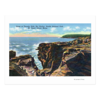 Mt. Desert Island View of Thunder Hole Postcard