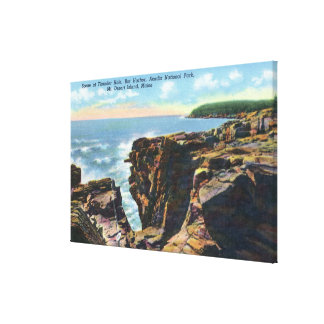 Mt. Desert Island View of Thunder Hole Stretched Canvas Prints