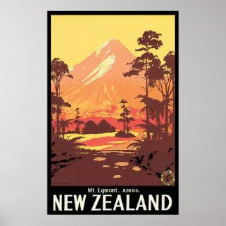 Mt Egmont New Zealand Poster