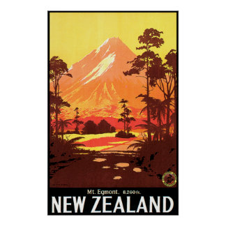 Mt. Egmont New Zealand Poster